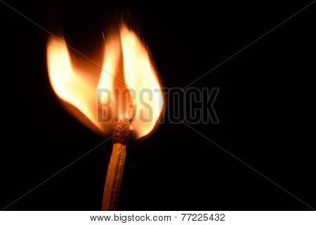 Matchstick burning