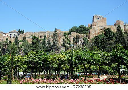 Malaga castle and gardens.