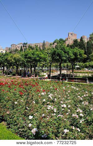 Castle and gardens, Malaga.