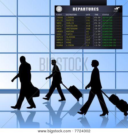 Airport - Set 1 - Passengers Departing