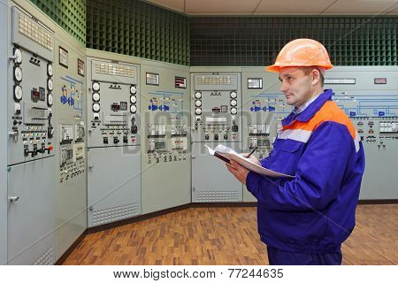 Engineer With Log On Main Control Panel