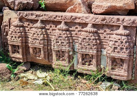 Ancient Stonework Of Ruined Temple Of Mandor, Jodhpur