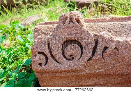 Ancient Stonework Of Ruined Temple Of Mandor, Jodhpur