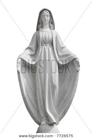 Sculpture Isolated On White