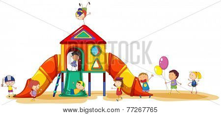 Children having fun at the playground