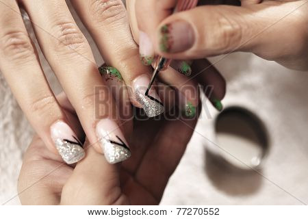 Making Nails - Applying Gels And Colors