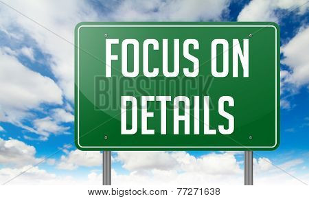 Focus on Details - Highway Signpost.