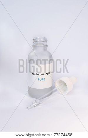 Hyaluronic Acid in bottle Cosmetics Skin
