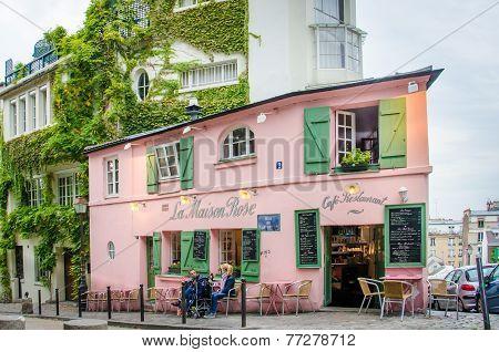 La Maison Rose Cafe Restaurant in Paris