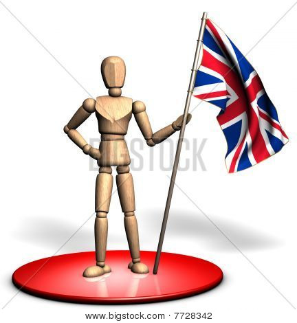 Statue of UK flag