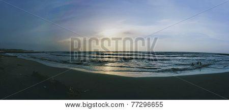 aun en la playa