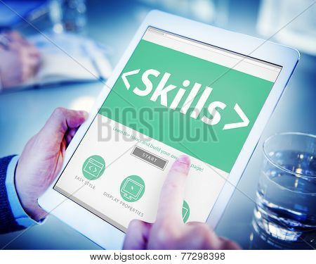 Skills Ability Aptitude Personal Efficacy Concepts