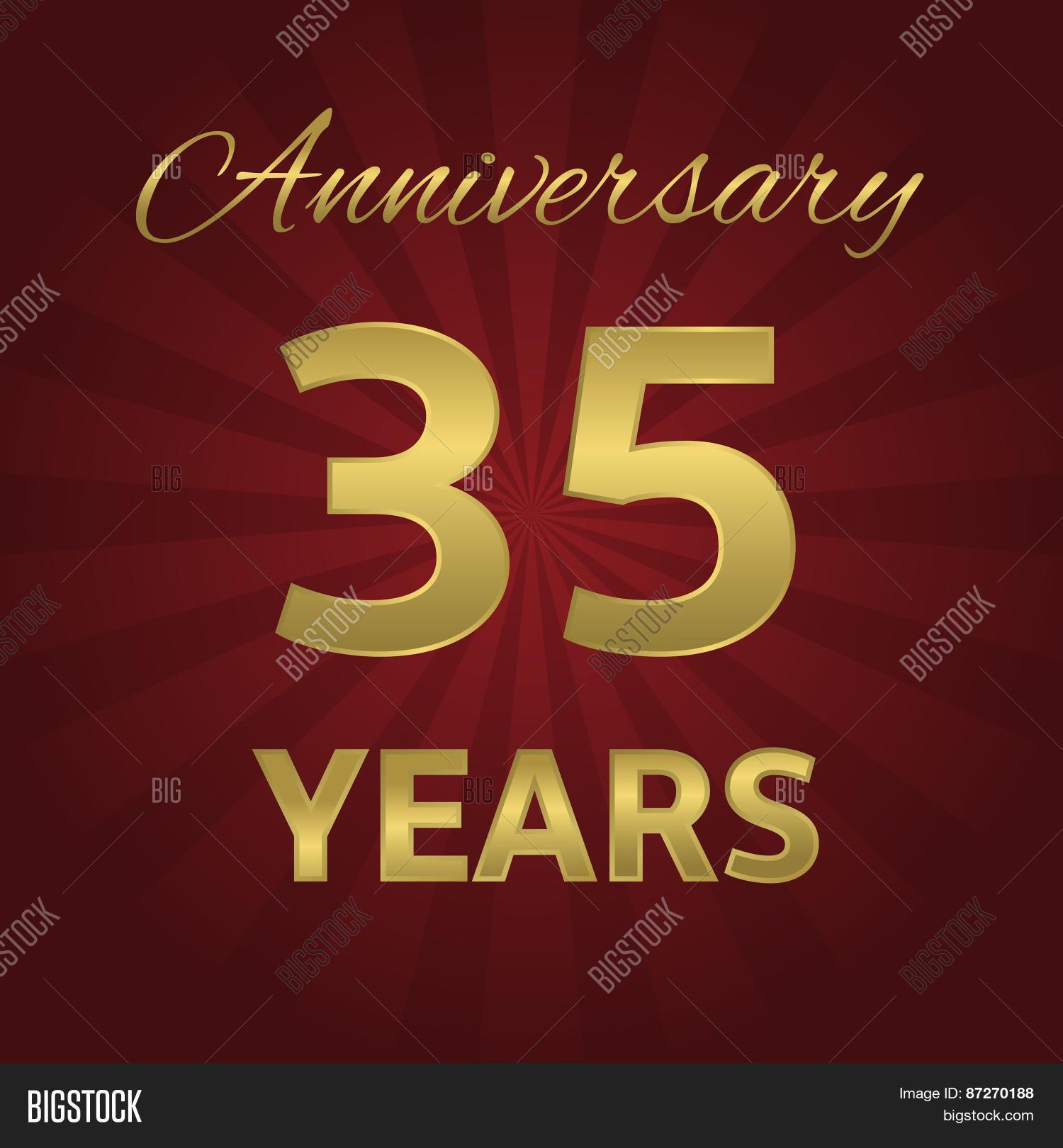 35 Years Anniversary Vector Photo Free Trial Bigstock