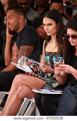 LOS ANGELES - APR 1:  Ludacris, Jordana Brewster at the Vin Diesel Hand and Foot Print Ceremony at the TCL Chinese Theater on April 1, 2015 in Los Angeles, CA