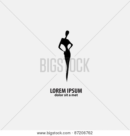 shop logo, fashion girl