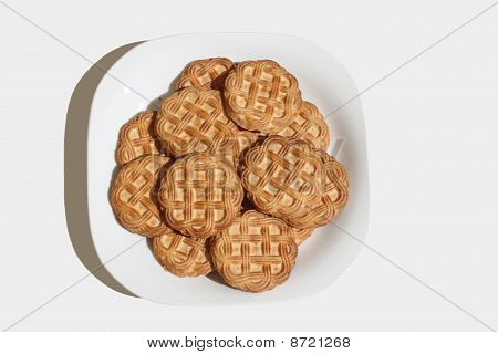 Some biscuits in a plate