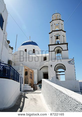 Santorini Church Scene