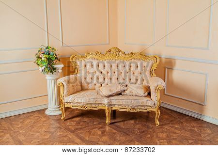 Luxurious Vintage Interior With Armchair In The Aristocratic Style