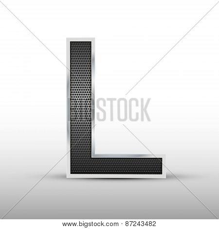 3D Speaker Grille Letter L