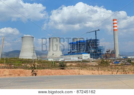 Lignite Power Plant Under Construction
