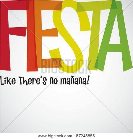 Bright Typographic Fiesta Card In Vector Format.