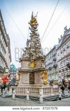 Plague Column In Vienna, Austria