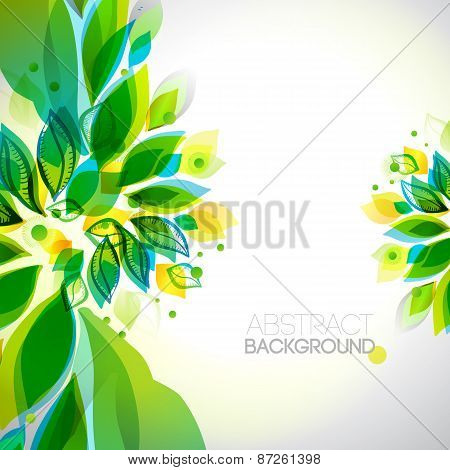Abstract Decorative Summer Frame