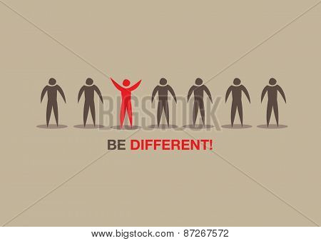 Be Different Concept Vector Illustration
