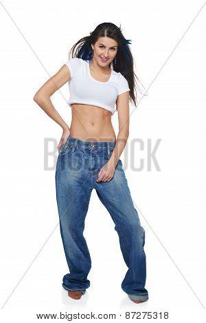 Funk girl in big jeans