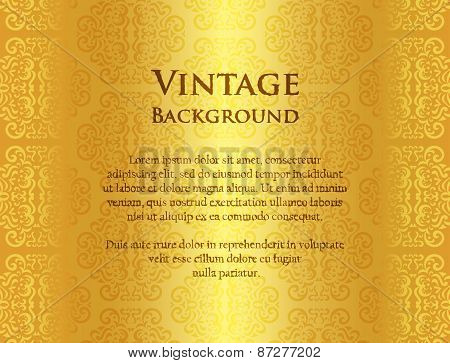 Luxury Golden Background With Ornament Pattern