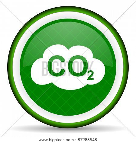 carbon dioxide green icon co2 sign  poster