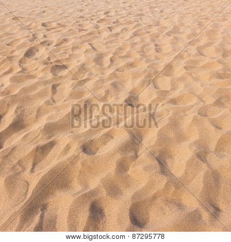 Footmarks On Sand And Sand Texture And Background