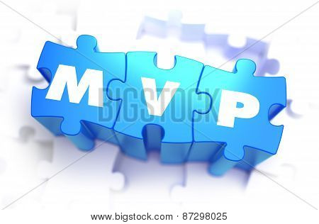 MVP - White Text on Blue Puzzles.