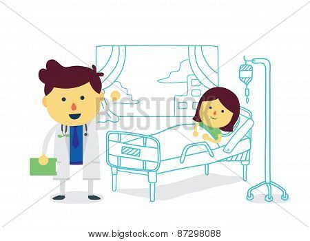 Doctor and patient in hospital