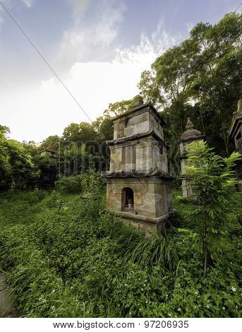 Worship tower  in the  PhatTich pagoda, BacNinh Province, Vietnam