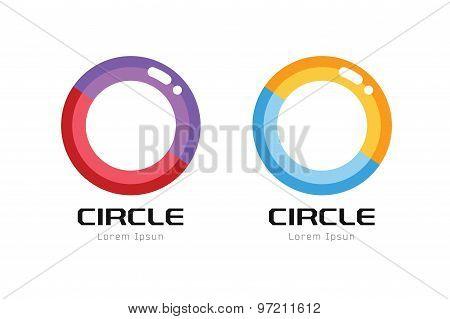 Vector globe abstract logo template. Circle shape and symbol, icon, creative idea or flow, earth lin