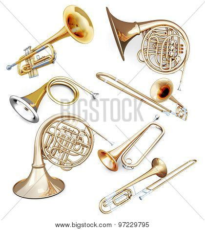 Set Of Wind Instruments