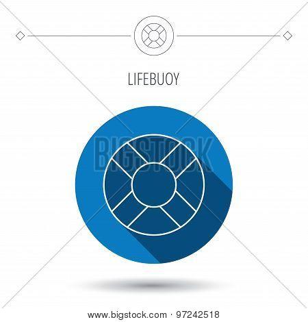 Lifebuoy icon. Lifebelt sign.