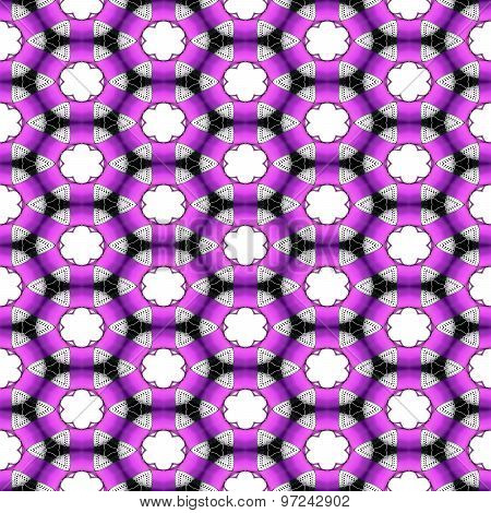 Seamless Futuristic Abstract Black, Violet And Silver Chrome Metallic Balls Densely Packed In Geomet