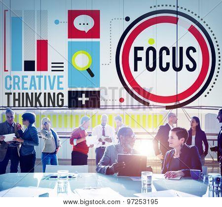 Focus Concentrate Definition Target Point Concept