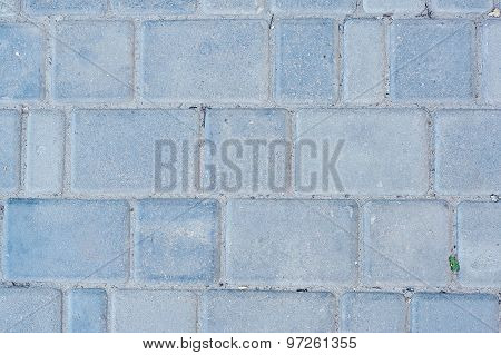 Background Of Sett. Cobblestone Pavement. Texture.