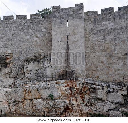 Part of the Jerusalem stone wall