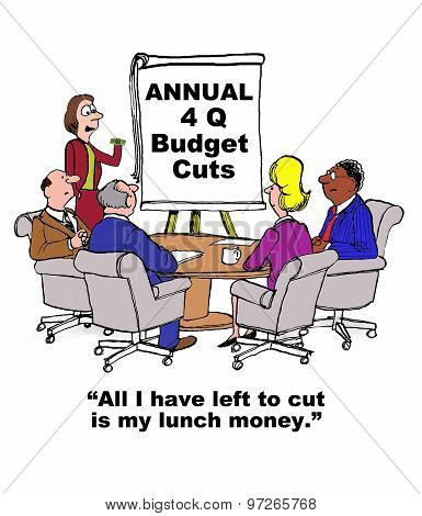 4th Quarter Budget Cuts