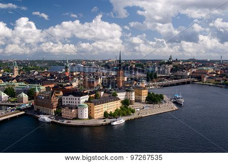 View on Gamla Stan from the tower of the City Hall, Stockholm, Sweden