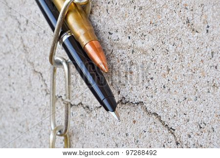 Pen Chain And Bullet