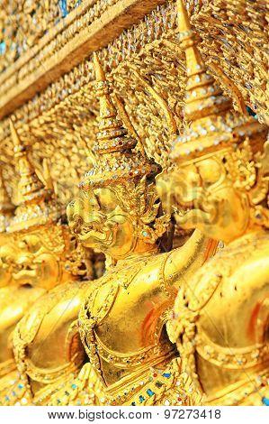 The Goden Garuda In Temple