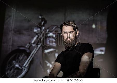 Brutal Angry Biker