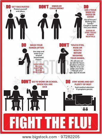 Fight the flu vector art