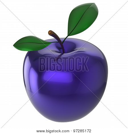 Apple experimental blue food research nutrition fruit antioxidant fresh ripe exotic anomaly unusual agriculture organic icon poster