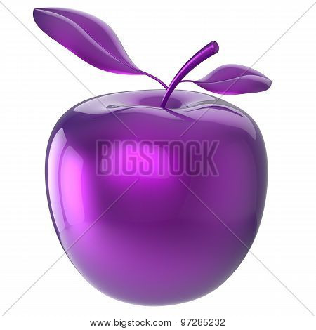 Apple blue purple food research experiment nutrition fruit antioxidant fresh ripe exotic danger poison anomaly unusual agriculture organic funny icon poster